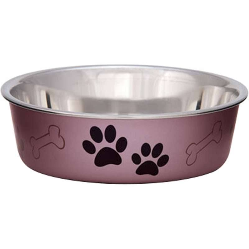 Loving Pets Bella Bowl - Grape Metallic, Large