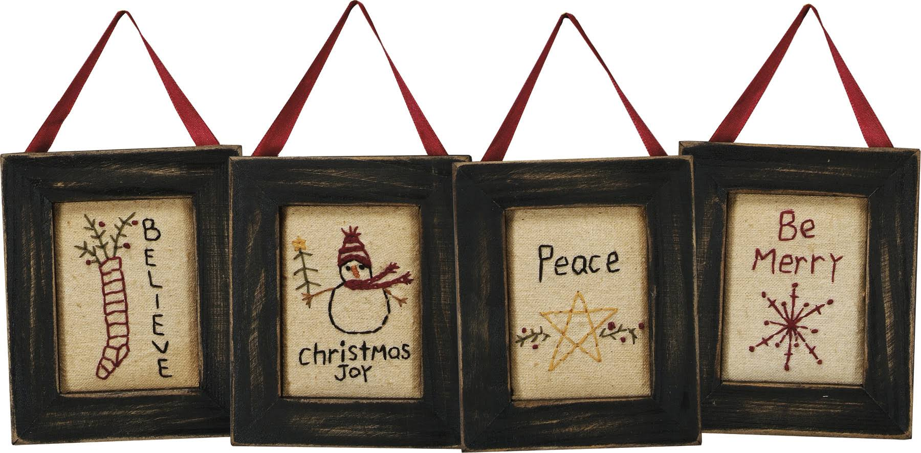 Primitives by Kathy | 16500 Wall Decor Set - Be Merry of 2 by