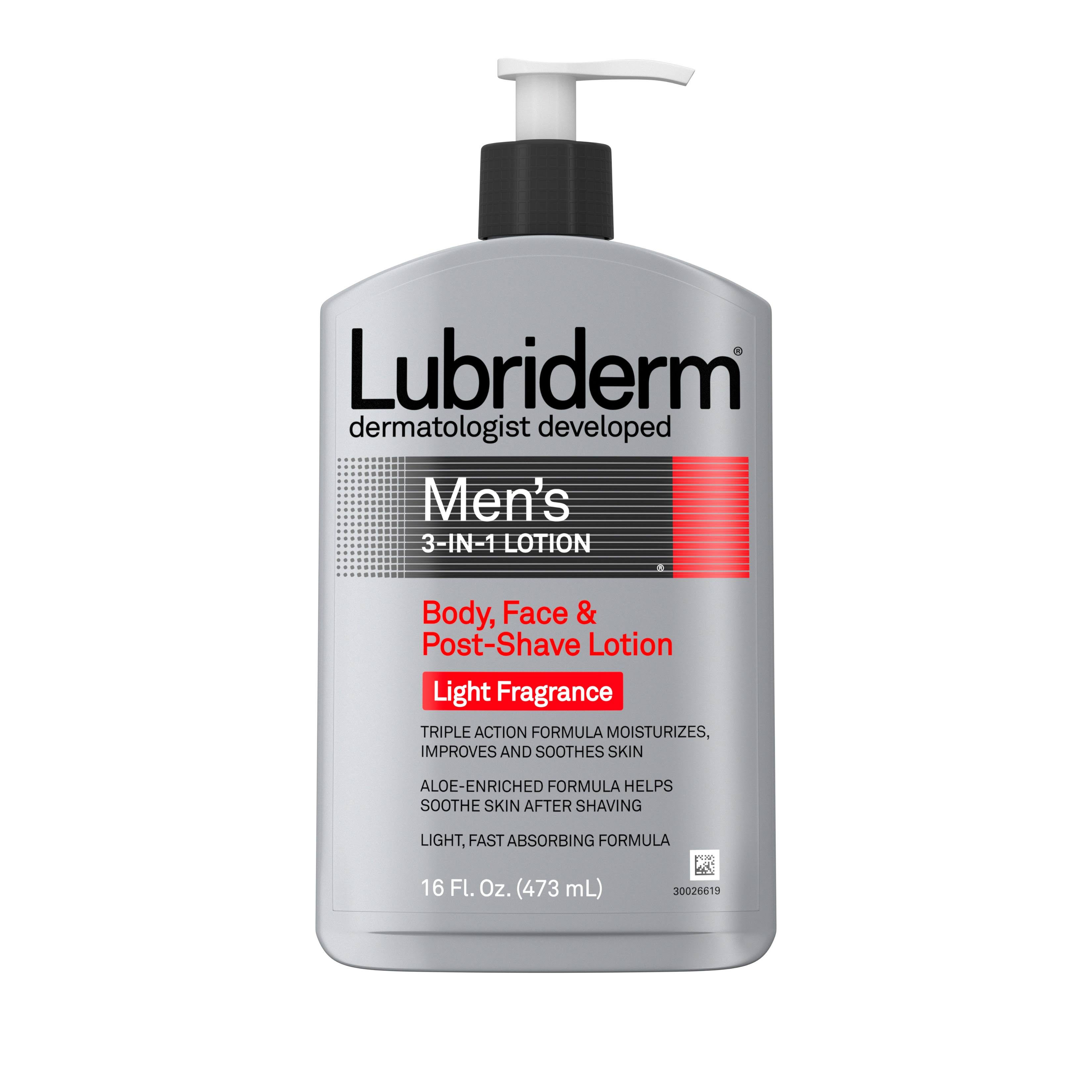 Lubriderm Men's 3 in 1 Lotion with Light Fragrance - 16oz