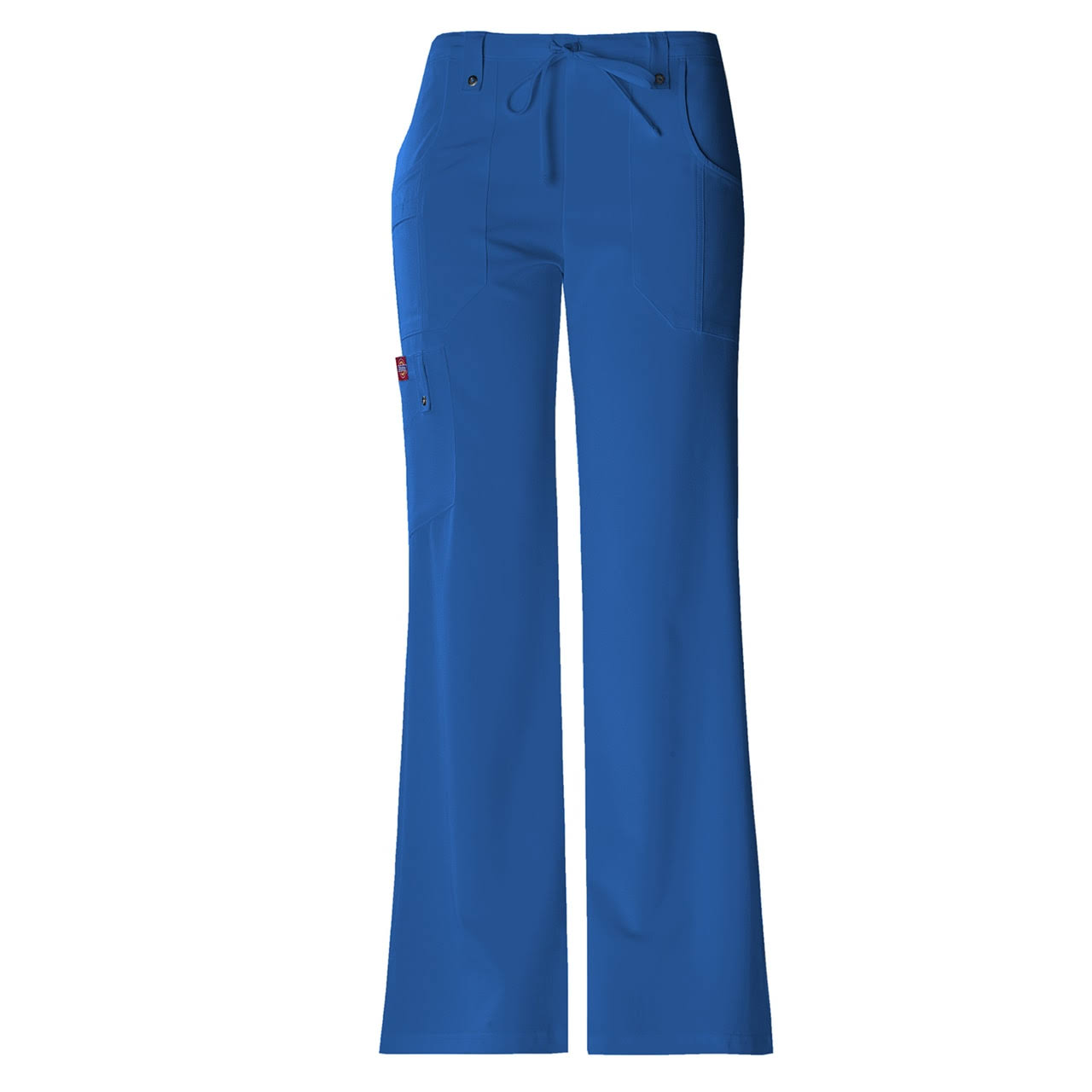 Dickies Women's Xtreme Stretch Fit Drawstring Flare Leg Pant - Royal, X-Large
