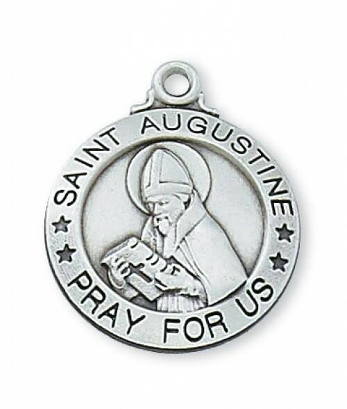 Sterling Silver St. Augustine Medal - Personalizable