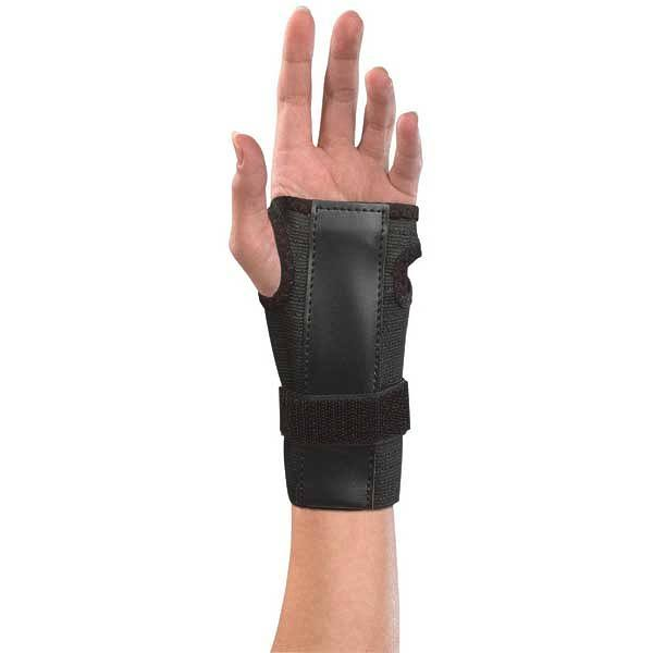 Mueller Wrist Brace with Splint - Black, One Size