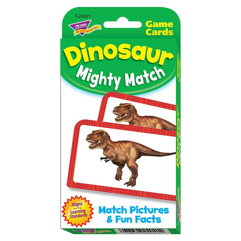 Trend Enterprises Dinosaur Mighty Match Challenge Cards - 56 Piece