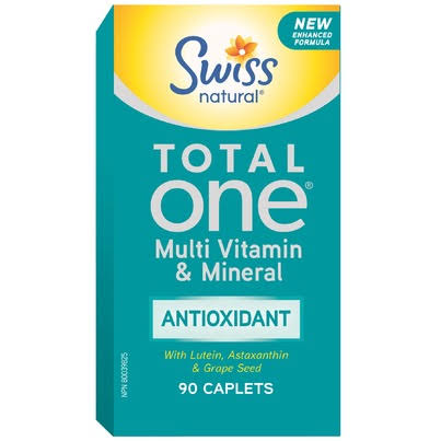 Swiss Naturals Total One Antioxidant Multi Vitamin & Mineral - 90 Caplets