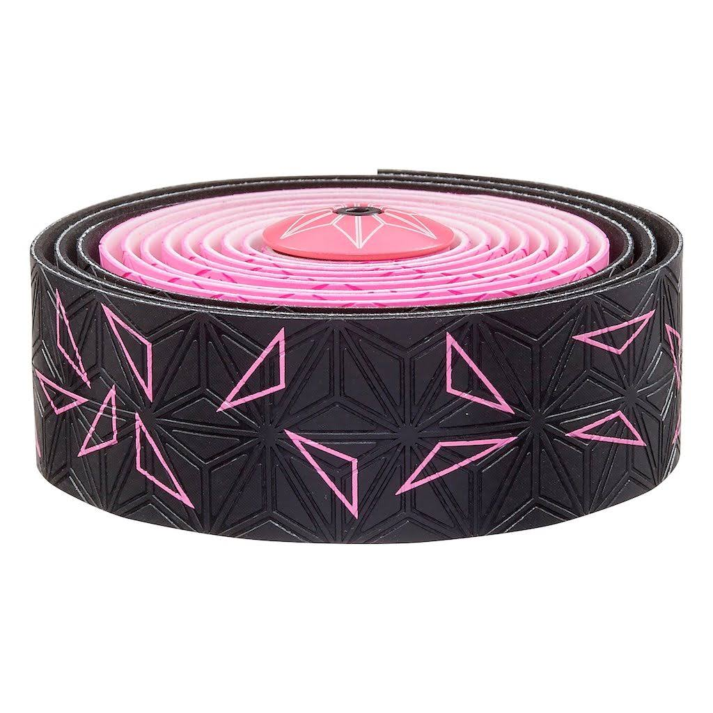 Supacaz Super Sticky Kush Star Fade Bar Tape - Neon Pink, 30mm x 2160mm