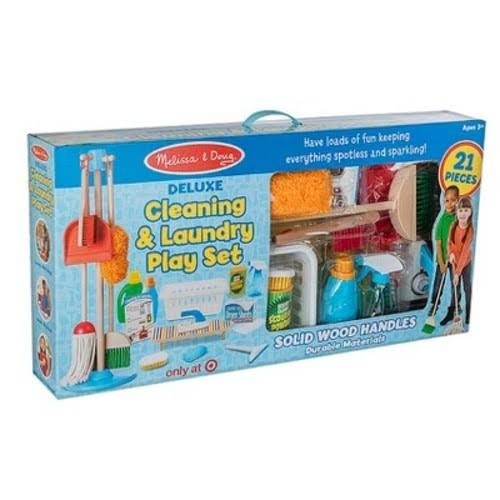 Melissa & Doug Deluxe Cleaning & Laundry Play Set - 21 Pieces