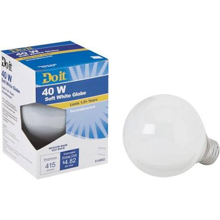 Do It G25 Incandescent Decorative Globe Light Bulb - 322800