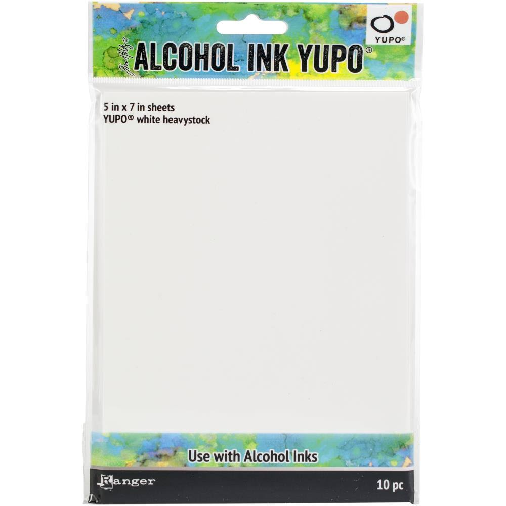 Ranger TAC63339 5 x 7 in. Tim Holtz Alcohol Ink White Yupo Paper