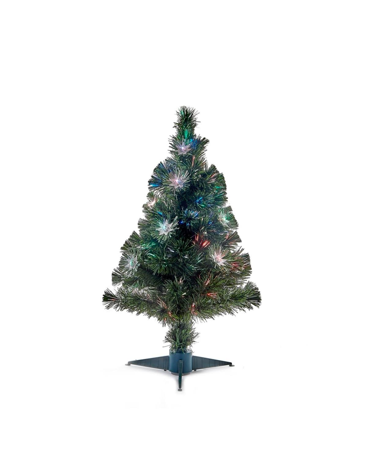 Kurt Adler 32-Inch Fiber Optic Tree with Comet Effect, Green
