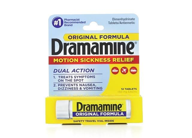Dramamine Motion Sickness Relief Tablets - 50mg, 12ct