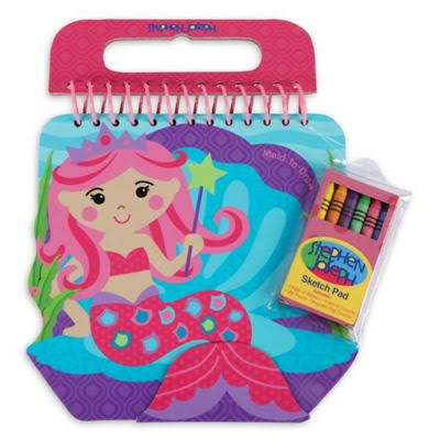 Stephen Joseph Shaped Sketch Pad - Mermaid