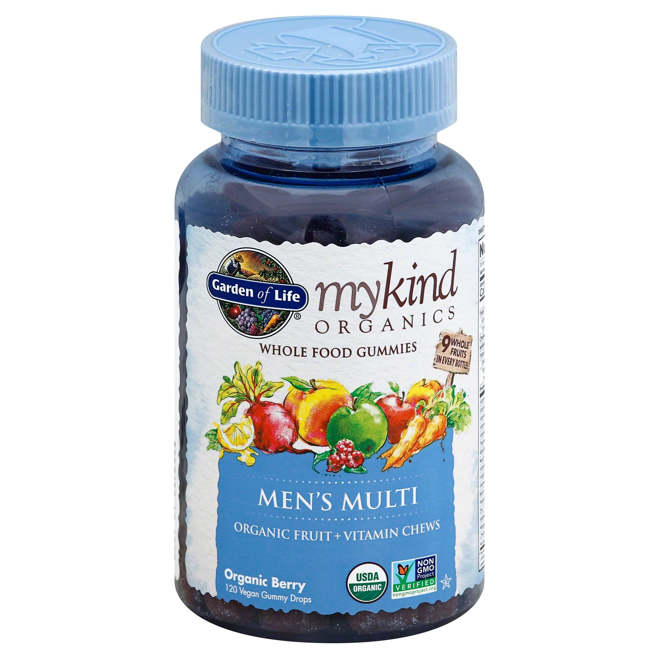 Garden of Life Mykind Organics Mens Multi Whole Food Gummies Vitamin - Berry, 120ct