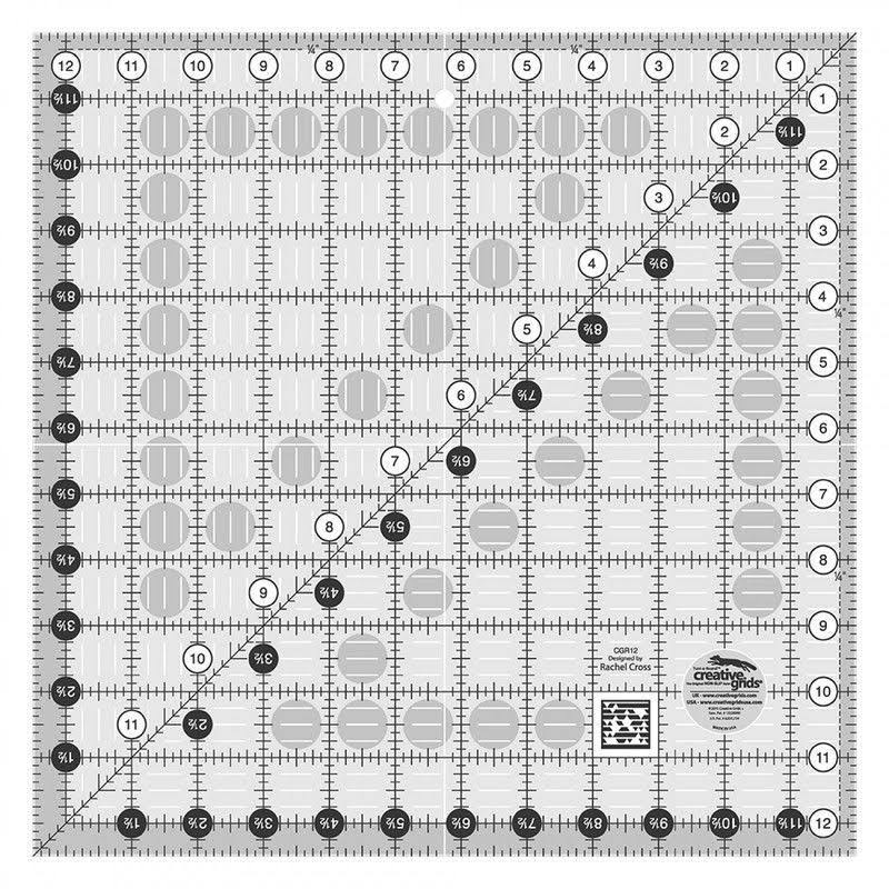 Creative Grids Square Quilting Ruler Template - 12.5""