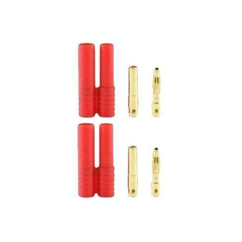 Redcat Racing Male and Female Banana Version Plugs - Size 4.0, 2pk