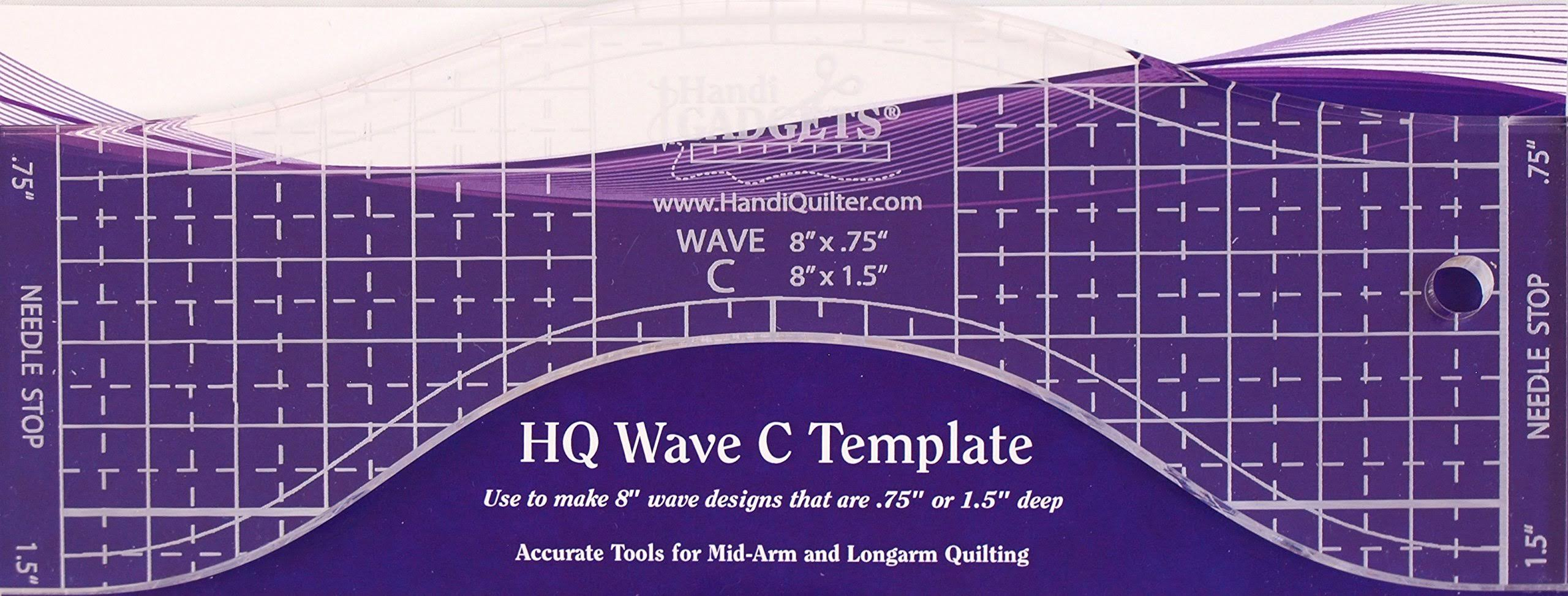 Handi Quilter HQ Wave C Longarm Template
