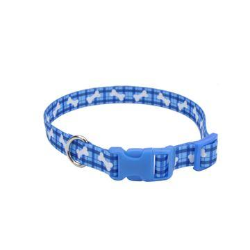 Styles by Coastal Plaid Bones Adjustable Nylon Pet Collar