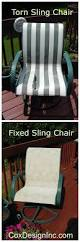 Replace Patio Sling Chair Fabric by Diy And Upcycle That Patio Furniture Paint And Replace Fabric