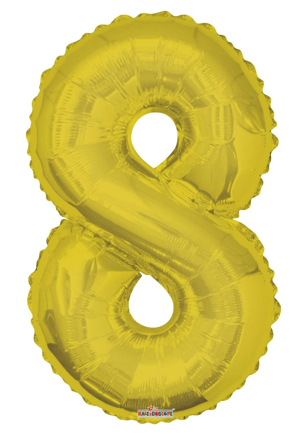 "Number Foil Balloon - No. 8, 34"", Gold"