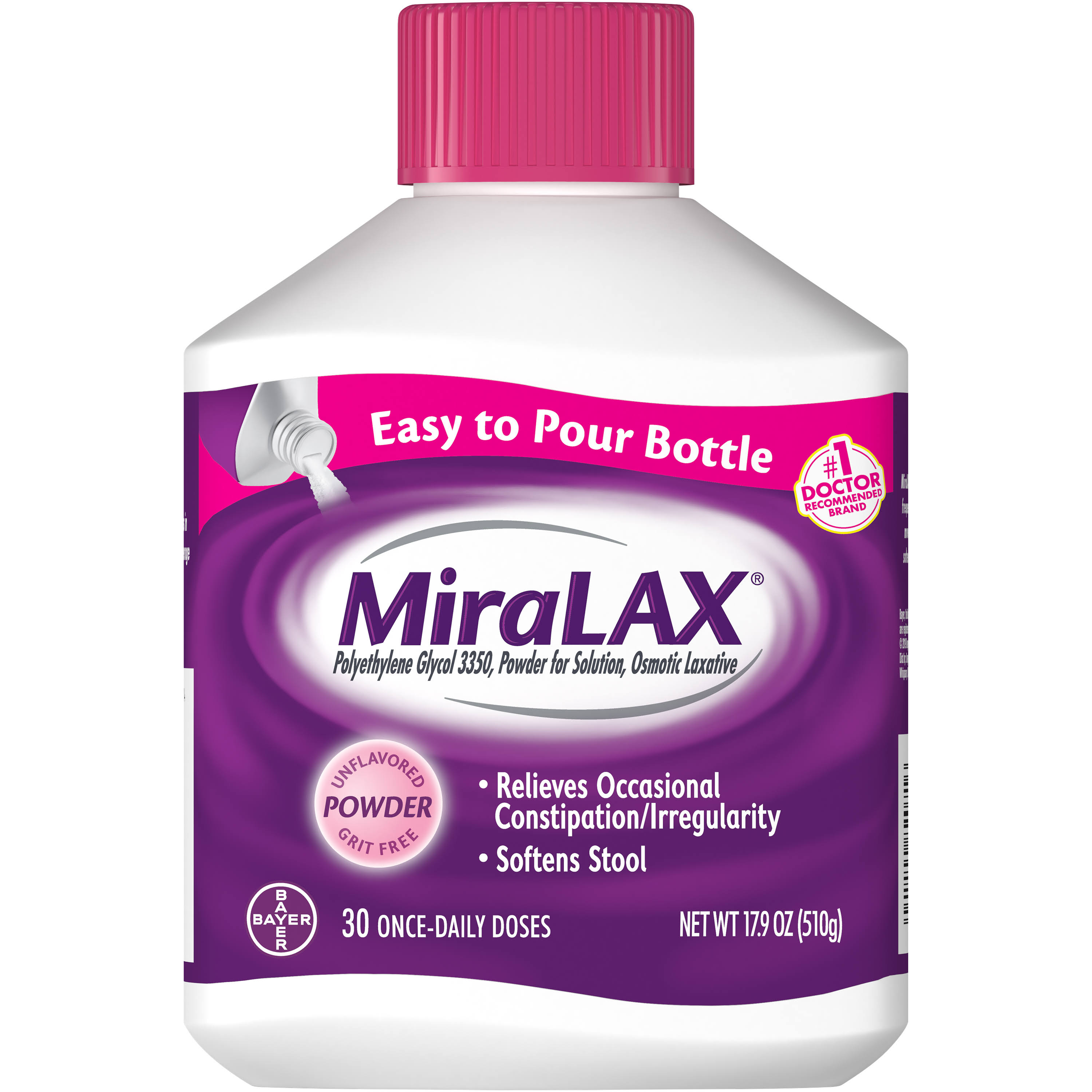 Miralax Laxative Stool Softener Powder - 510g