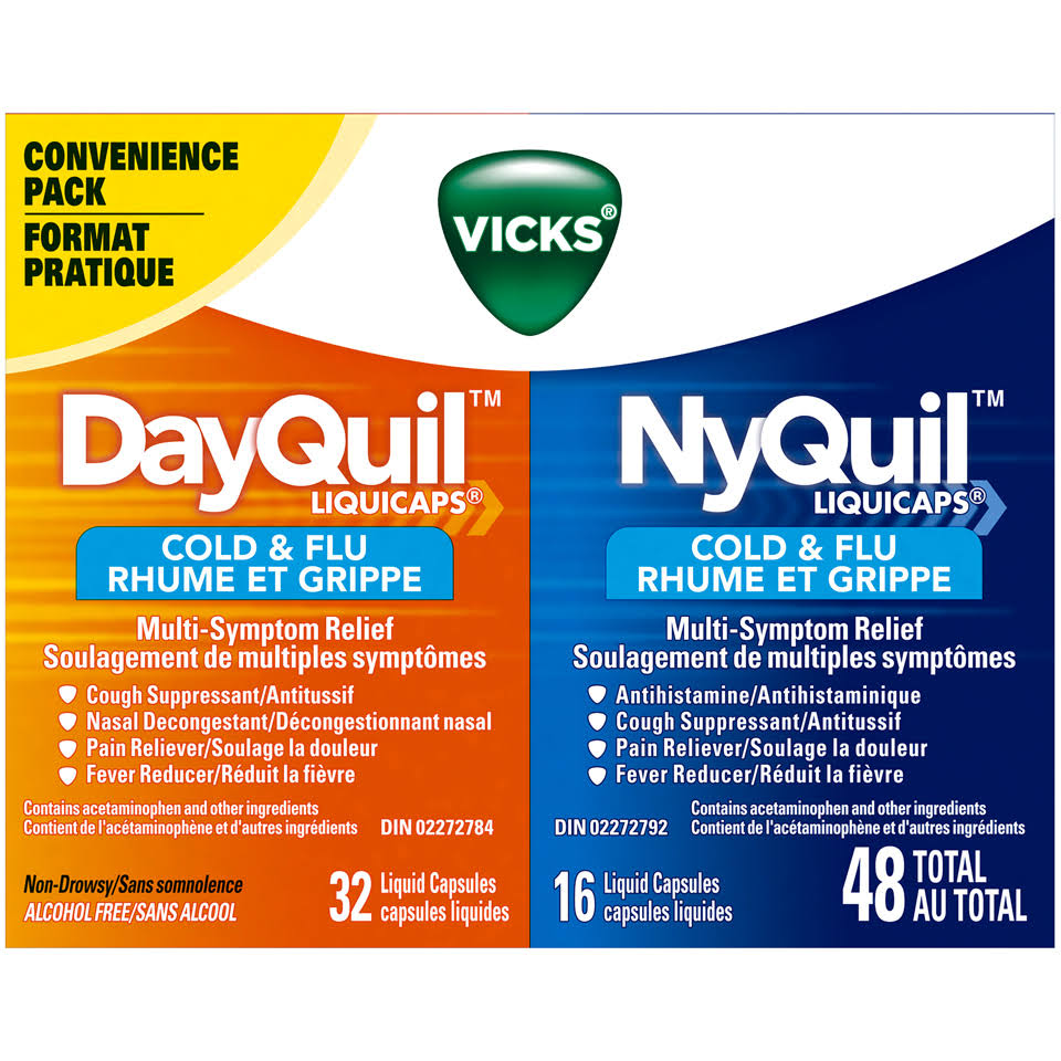 Vicks Dayquil Nyquil Cold & Flu Reliever - 24ct