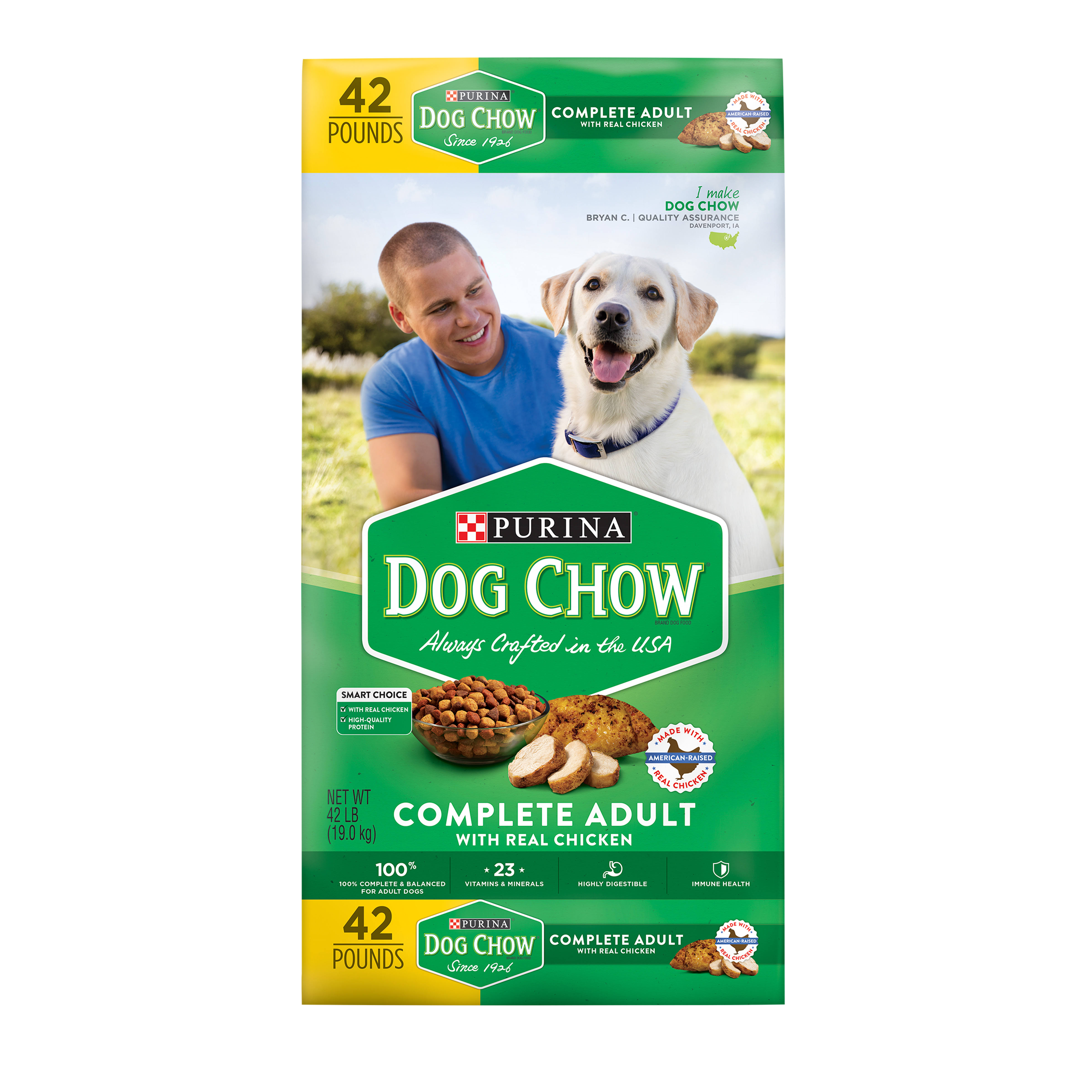 Purina Dog Chow Complete Adult Dog Food - 19kg