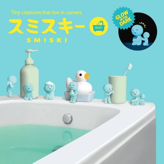 Smiski Bath Series Glow in The Dark Collectable Figurines Art Toys