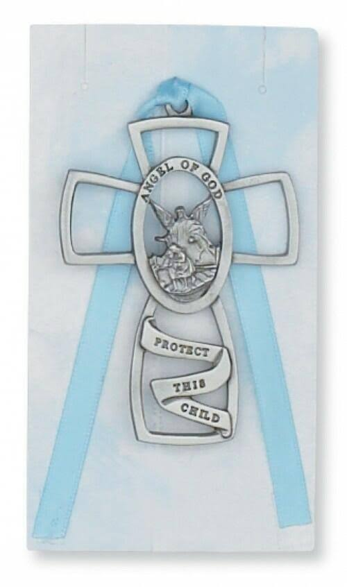 Guardian Angel Cross Blue Ribbon