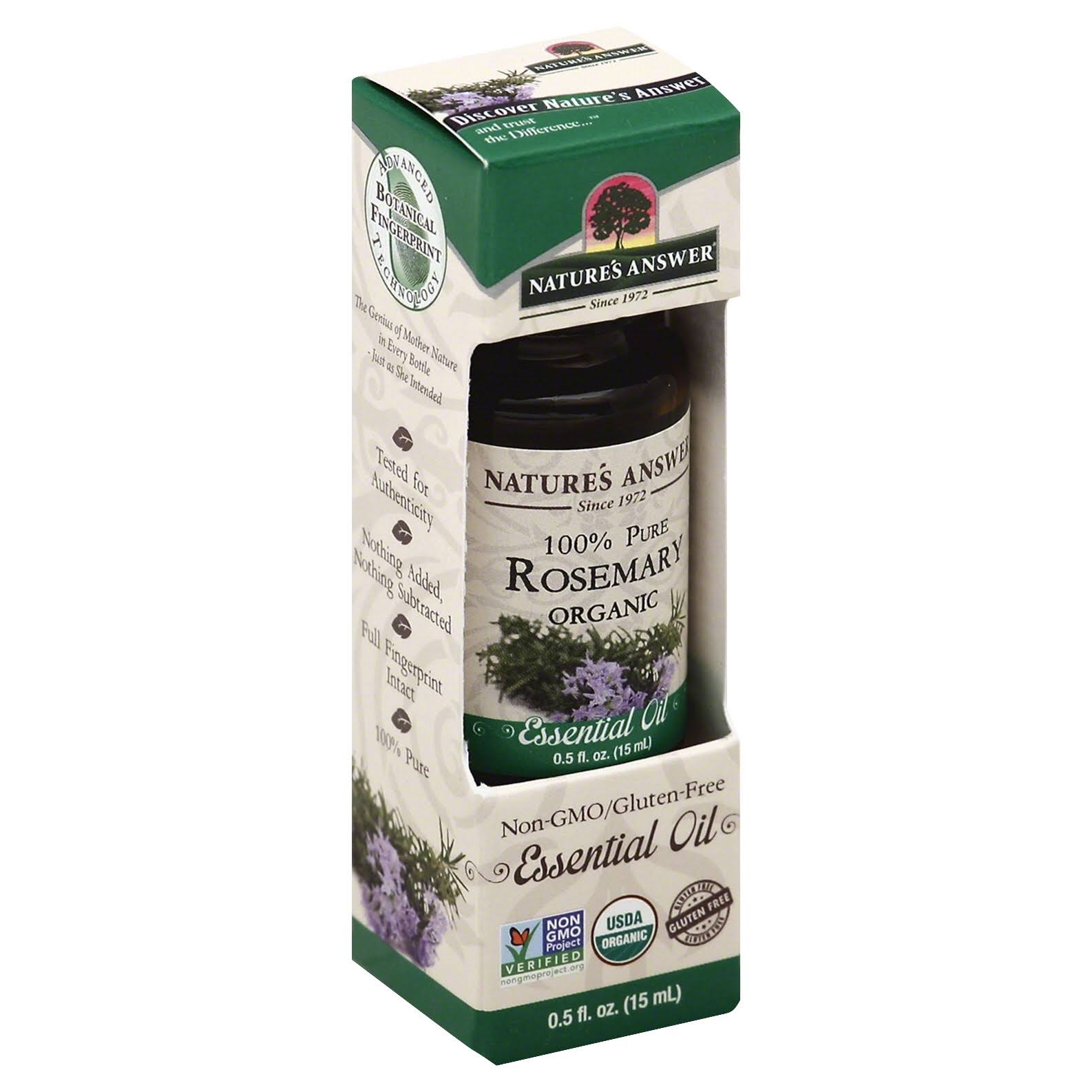 Nature's Answer 100 Percent Pure Rosemary Organic Essential Oil - 0.5oz