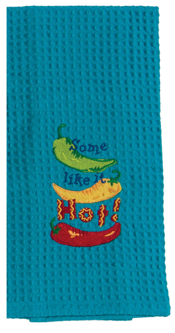 Kay Dee Designs F0750 Some Like It Hot Embroidered Waffle Towel
