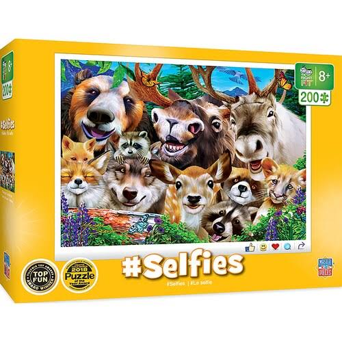 Masterpieces Puzzles - Selfies Woodland Wackiness 200-Piece Puzzle