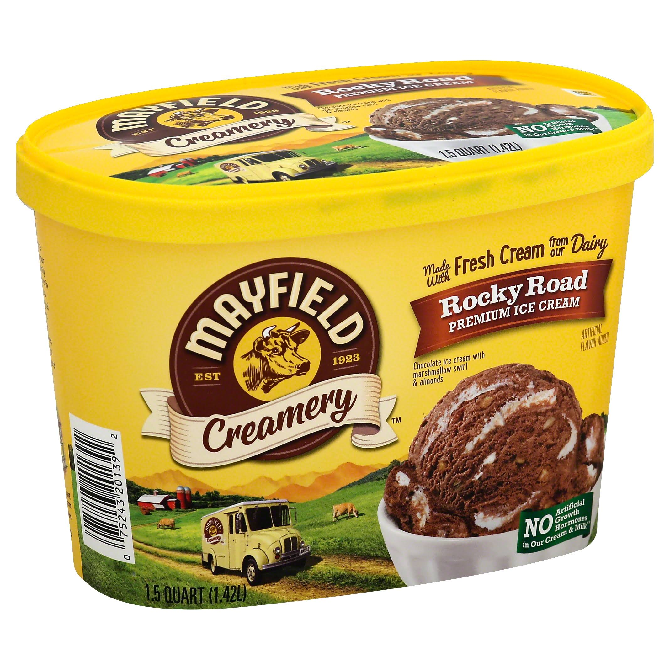 Mayfield Select Rocky Road Ice Cream - 1.5qt