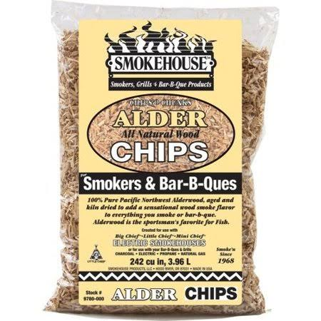 Smokehouse Products All Natural Flavored Wood Smoking Chips - Alder, 1.75lbs