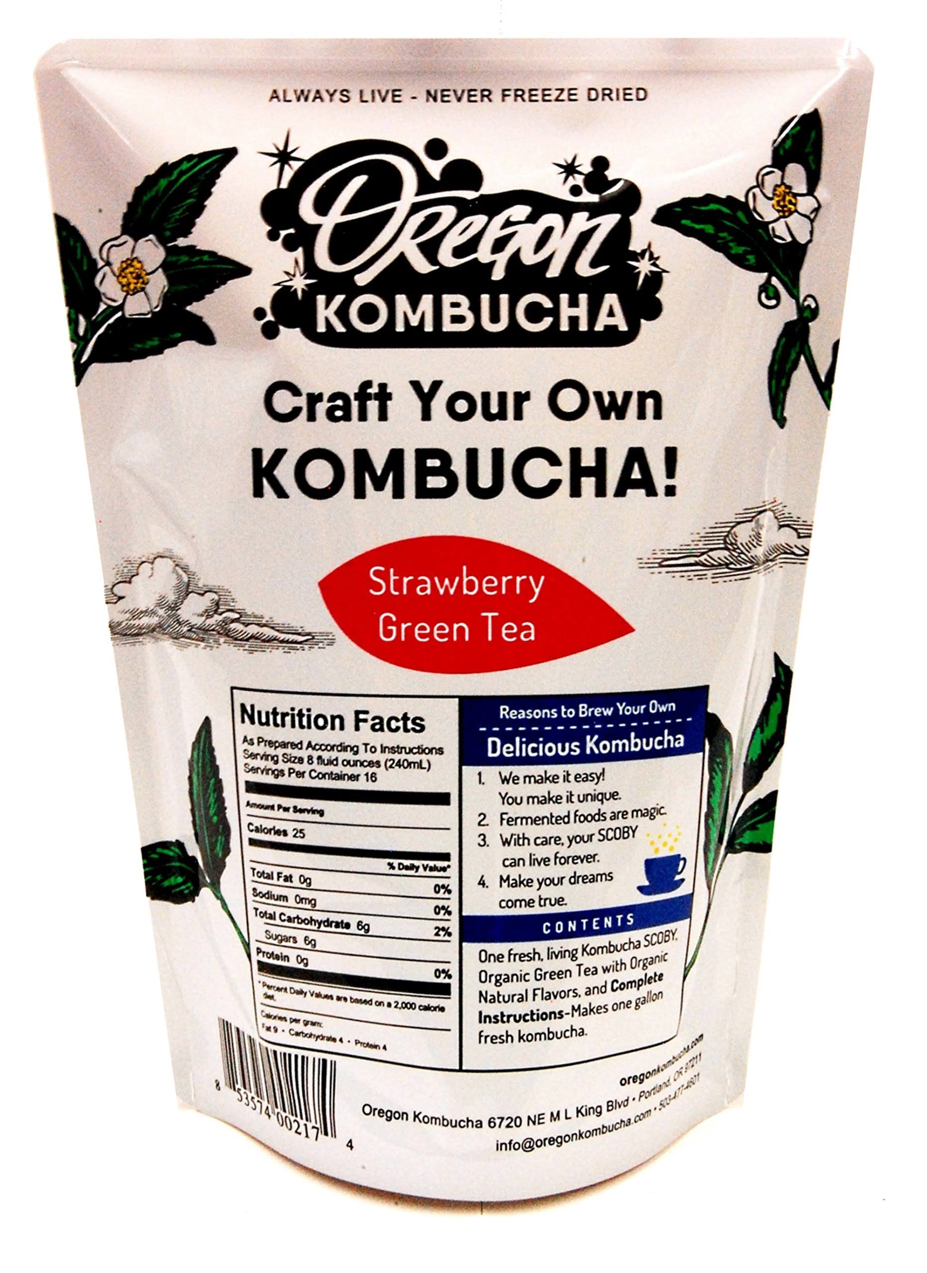 Oregon Kombucha Strawberry Green Tea Kombucha Starter Kit