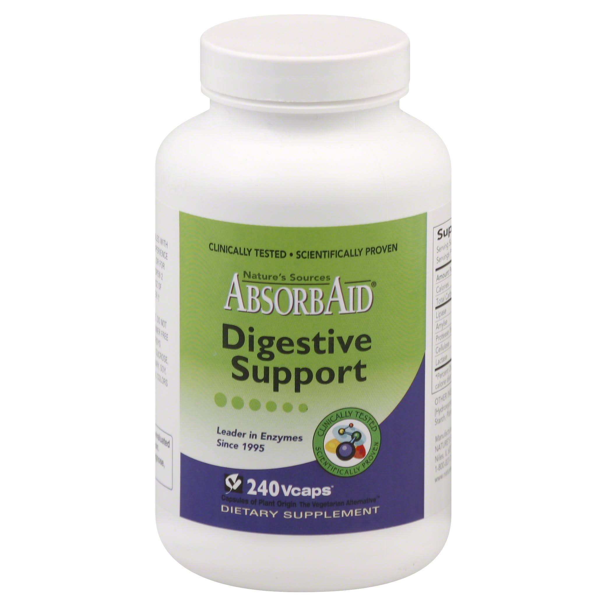 Absorbaid 0189696 Natures Sources Digestive Support Supplement - 240ct