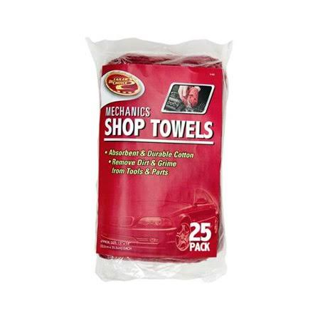 Tiger Accessory Group 3-5428 Shop Towel, Red Cotton, 13 x 14-In., 25-Pk.