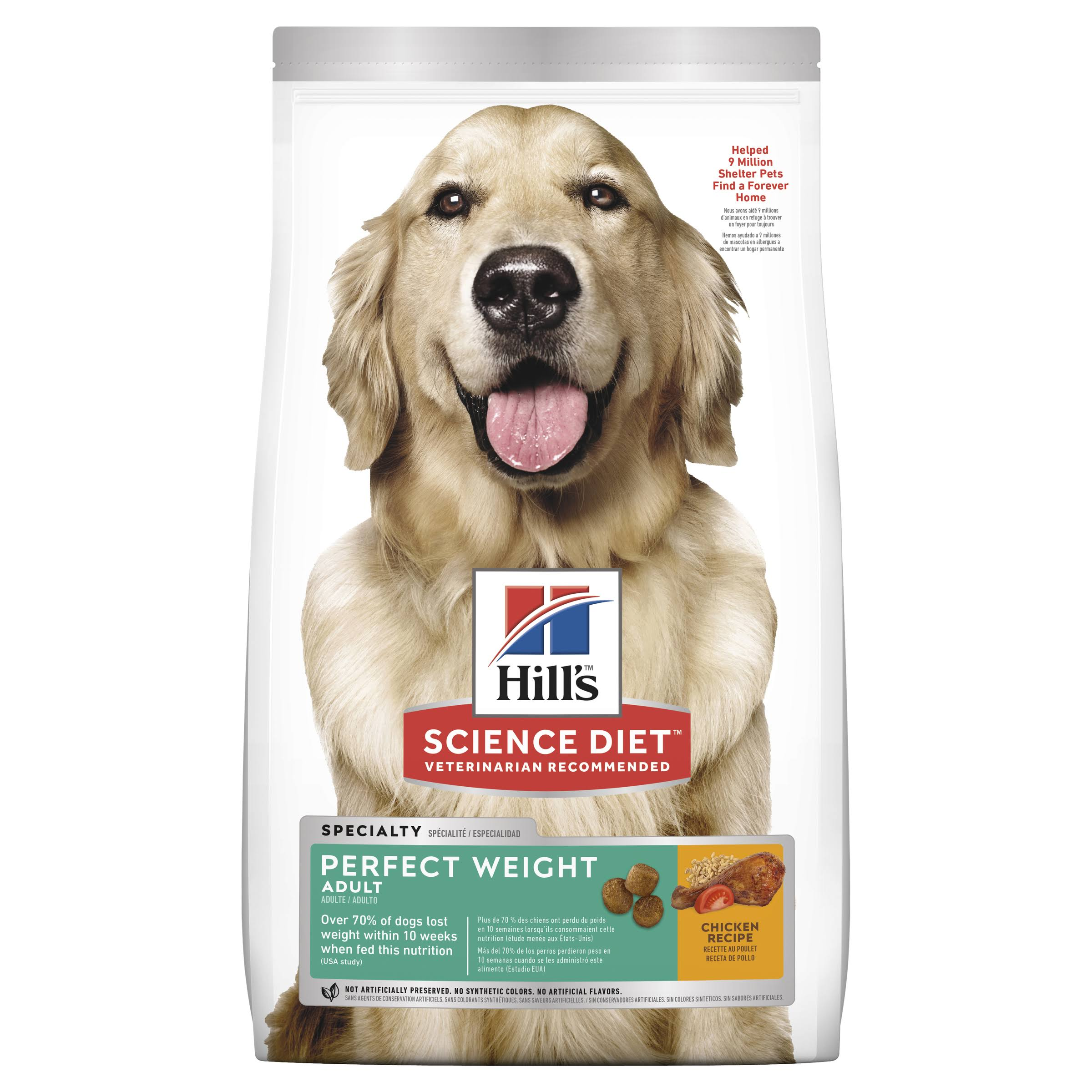 Hill's Science Diet Adult Perfect Weight Dry Dog Food - Chicken Recipe, 28.5lbs