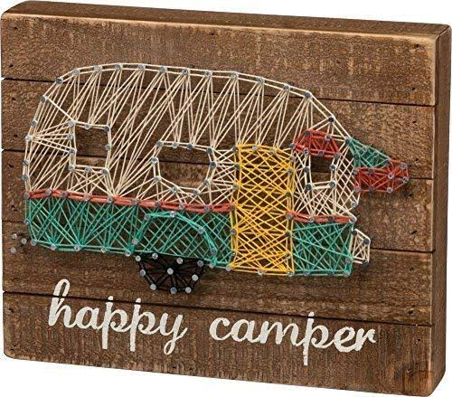 "Primitives by Kathy Happy Camper String Art - 10.98"" x 8.7"" x 1.5"""