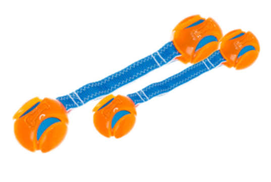 Chuckit Hydro Squeeze Duo Tug Dog Toy - Medium
