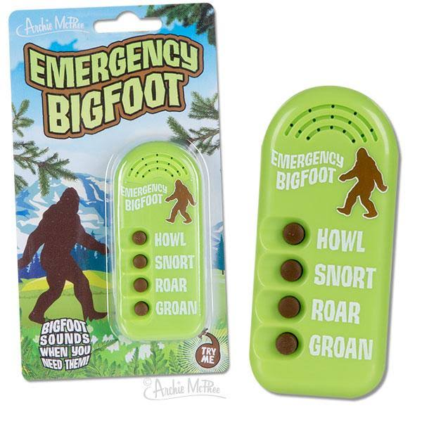 Accoutrements Archie McPhee Emergency Bigfoot Noisemaker