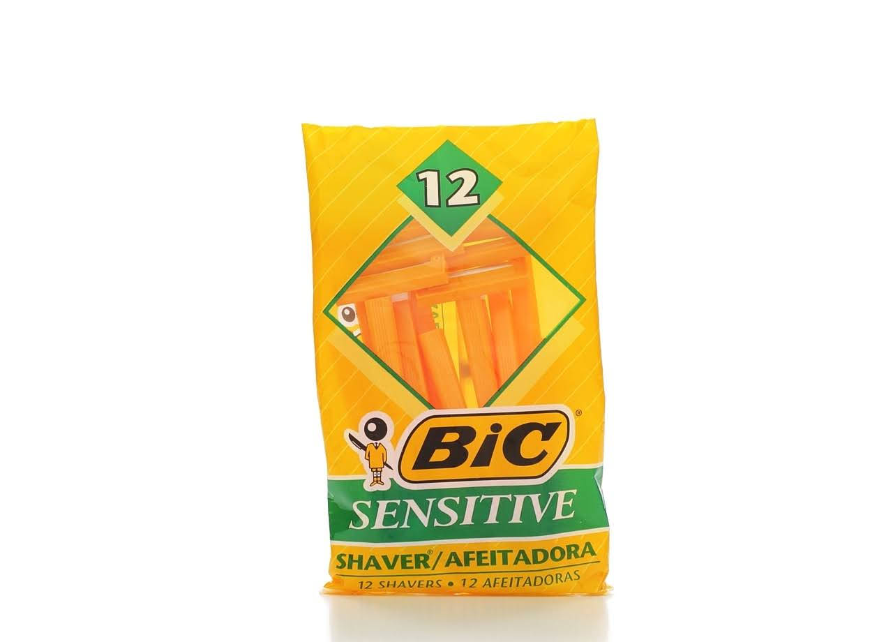 Bic Sensitive Single Blade Razor - 12 Pack