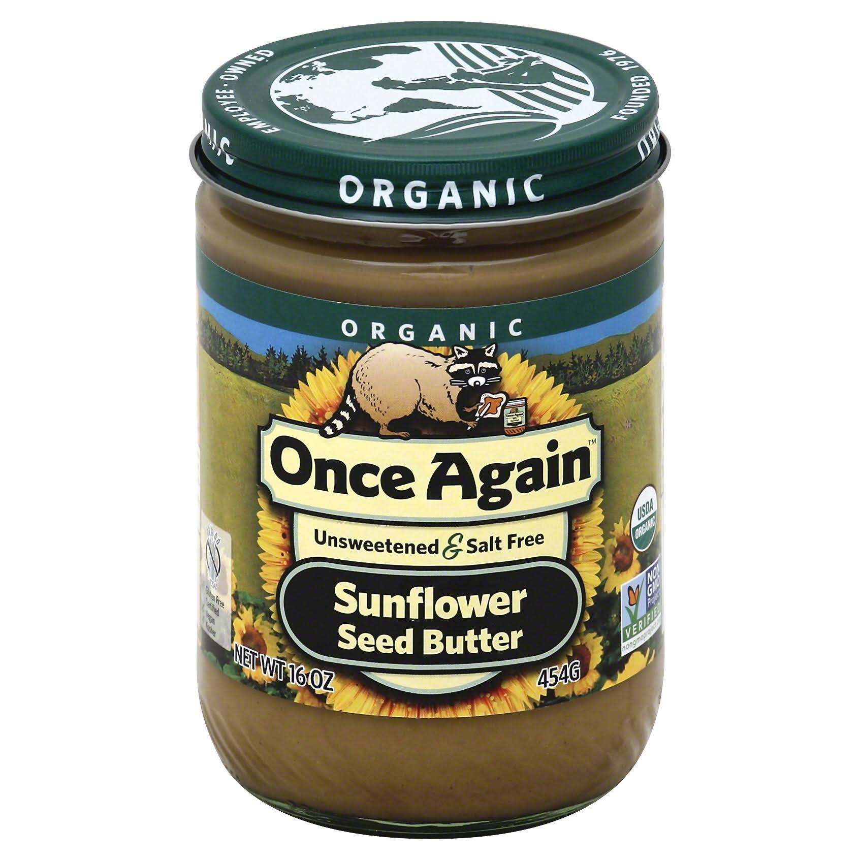 Once Again Organic Sunflower Seed Butter - 454g