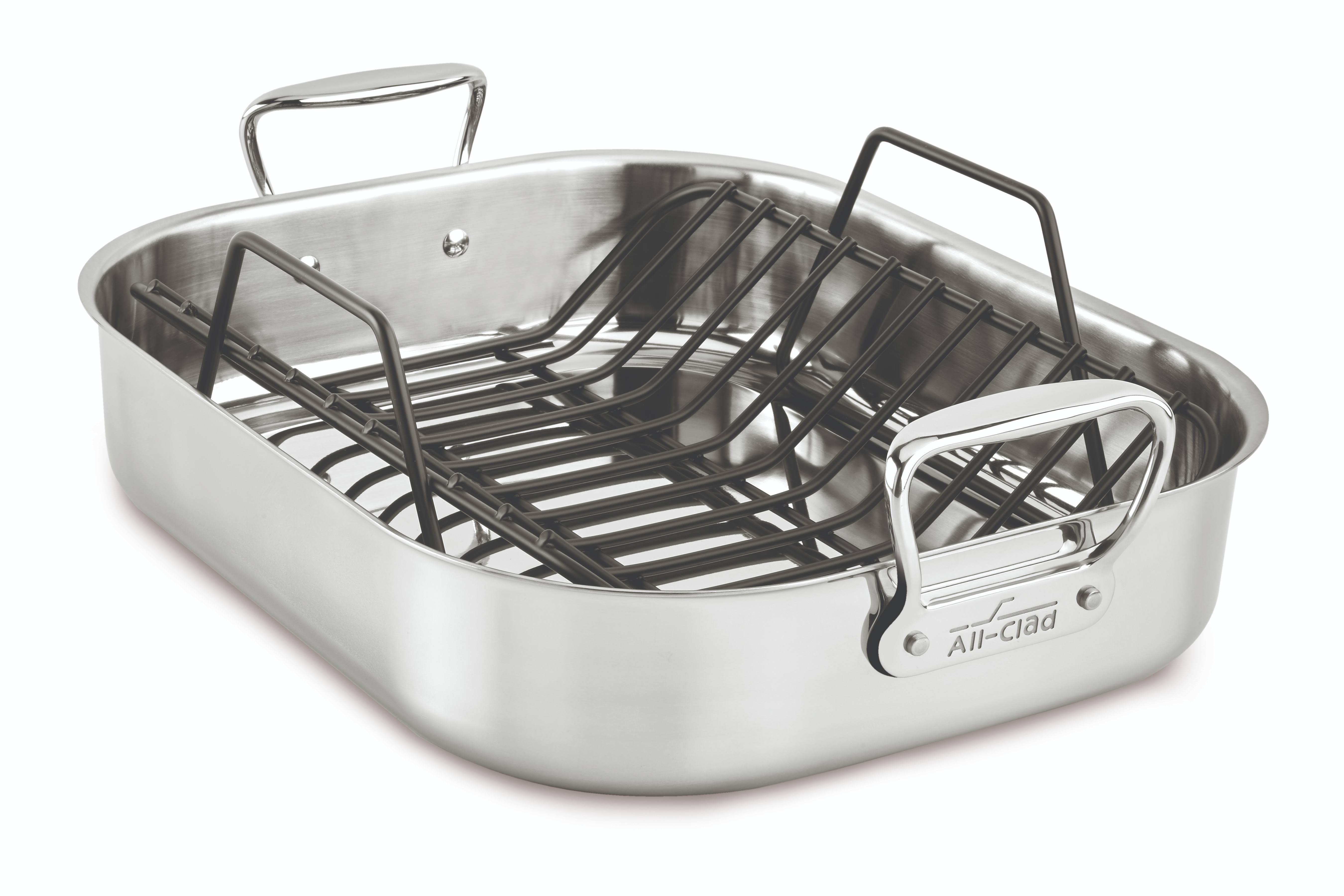 "All-clad Stainless Steel Roaster - 16"" x 13"""