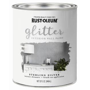 Rust-Oleum 1 qt. Sterling Silver Glitter Interior Paint