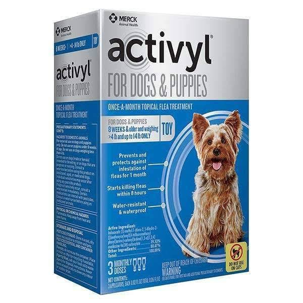 Activyl for Dogs & Puppies Once-A-Month Tropical Flea Treatment - 3 Monthly Doses