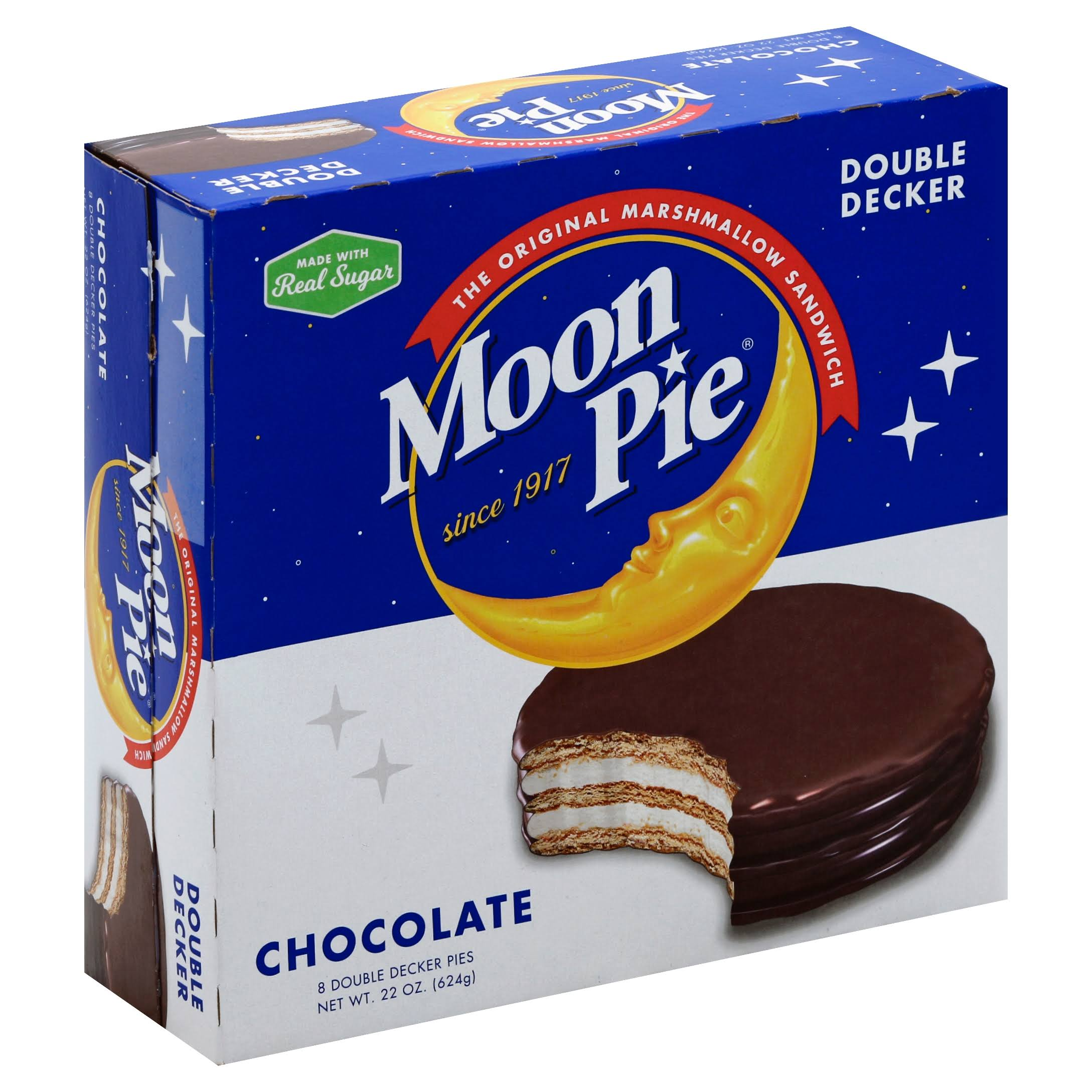 Moon Pie Moon Pie, Chocolate, Double Decker - 8 pack, 22 oz