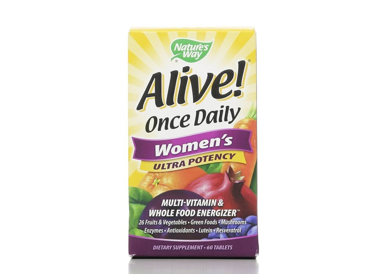 Nature's Way Alive Once Daily Women's Ultra Potency Multi-Vitamin - 60 Tablets