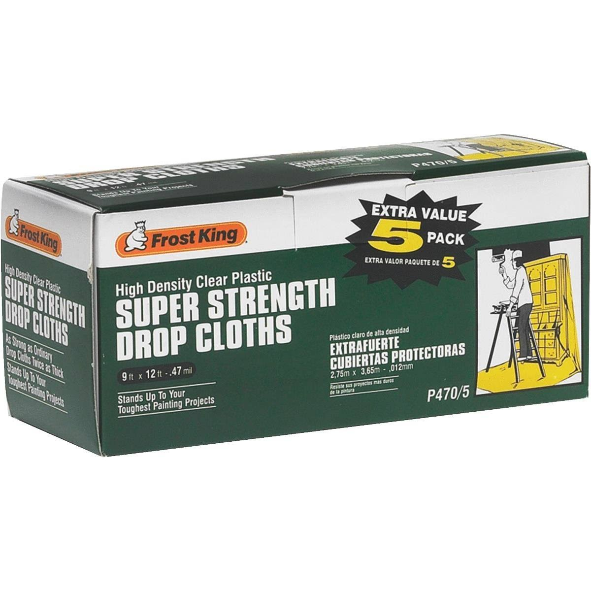Frost King High-density Drop Cloth - 5pk