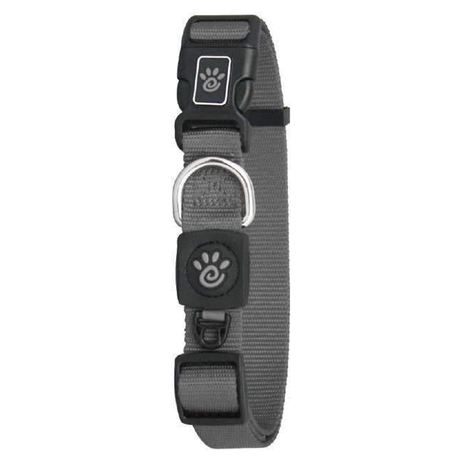 Doco DCSN1072-05M 6 ft. Signature Nylon Leash Dog Collar Gray - Medium