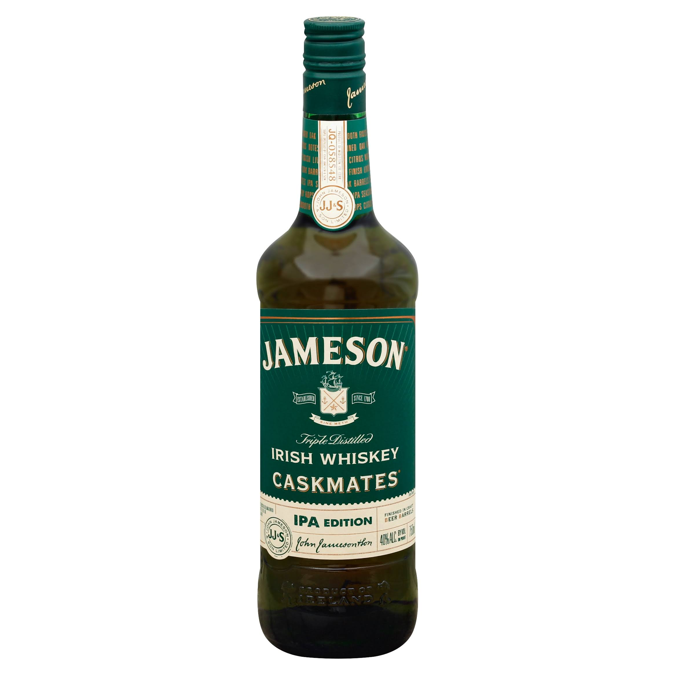 Jameson Caskmates Whiskey, Irish, Triple Distilled - 750 ml