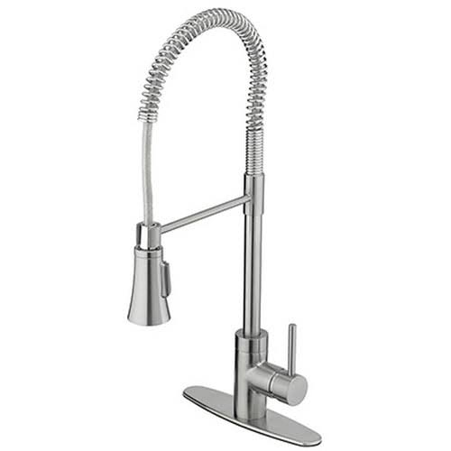 Homewerks Worldwide HomePointe Pull Down Industrial Kitchen Faucet with Single Handle - Stainless Steel